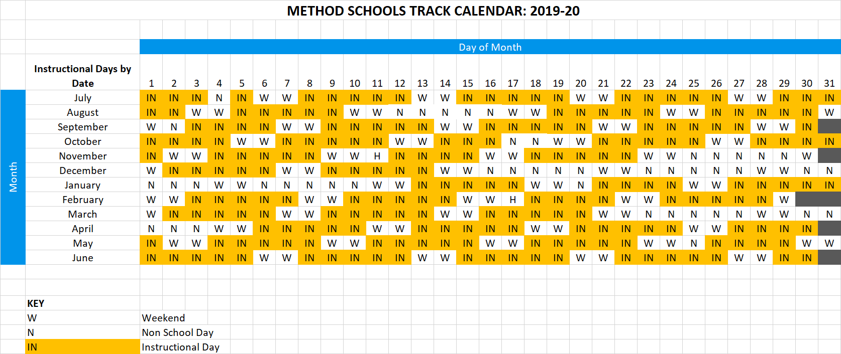 method schools 2019-20 calendar-1