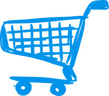 shopping cart handdrawn