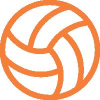 volleyball icon orange